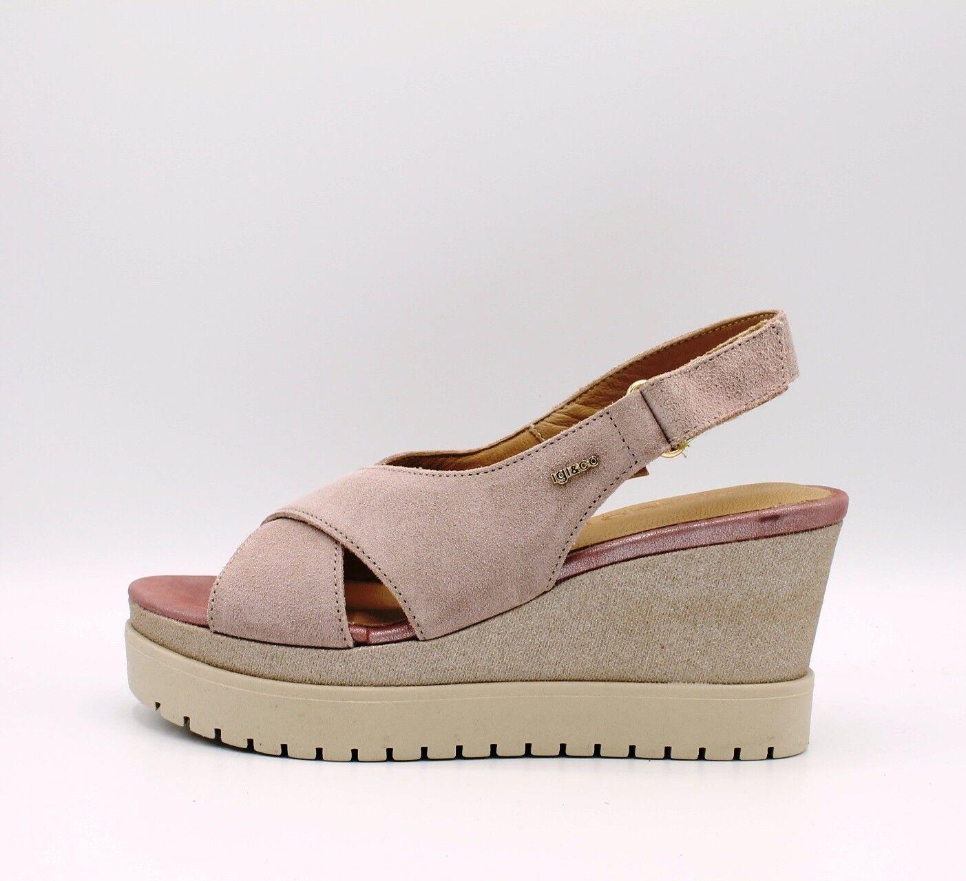 IGI & CO. DLT zeppa 1190555 sandali donna con zeppa DLT in morbido camoscio rosa antico 91c2b6