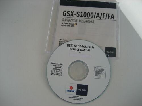 SUZUKI GSX-S 1000 ABS a partire da l5 Riparazione CD MANUALE OFFICINA SERVICE MANUAL NUOVO