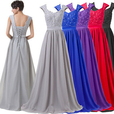 Long Masquerade Wedding Party Formal Prom Gown Cocktail Bridesmaid Evening Dress