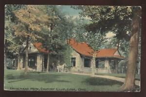 POSTCARD Lima, OH Linneman's Couontry Club 1907?
