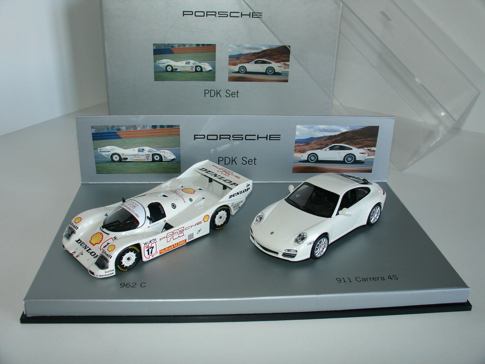 1 43 PORSCHE PDK SET WAP 020 SET 21 962C & 997 CARRERA 4S by MINICHAMPS