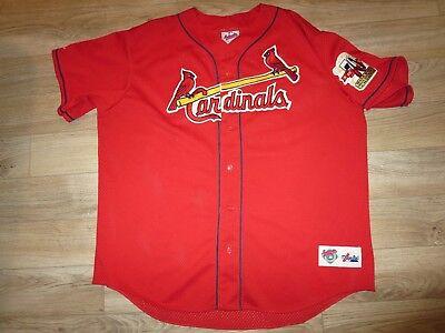 Streng Mark Mcgwire 1998 St Louis Cardinals Mlb Majestic 70hr Trikot Xl Vintage Halten Sie Die Ganze Zeit Fit Weitere Ballsportarten Fanartikel