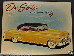 1953-DeSoto-Powermaster-6-Sales-Brochure-Folder-Export-Market-Nice-Original-53