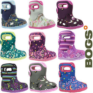 Bogs-Wellies-Boots-Baby-Girl-Warm-Waterproof-Insulated-Fur-Lined-10c-Childrens