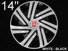 14'' Wheel trims  for Fiat Punto Panda  4 x14'' black - white