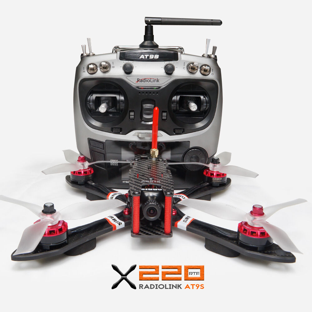 ARRIS X220 220mm RC Quadcopter FPV Racing Drone RTF+Radiolink AT9S Camera Drones