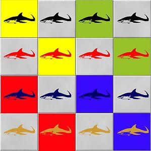SHARK Stickers (decals) Waterproof, ideal for tiles/glass/ceramic - Wall Art