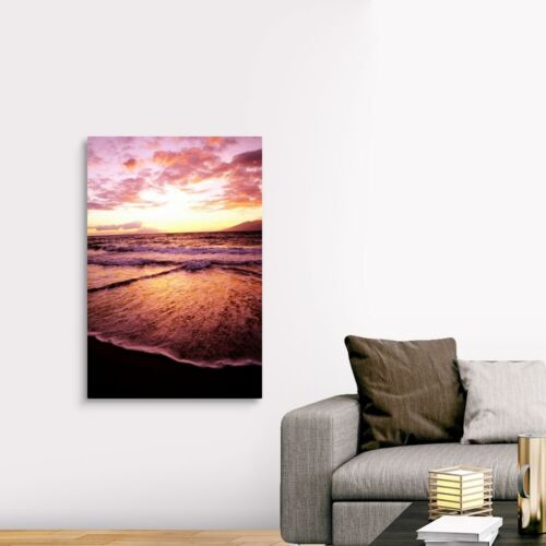 Canvas Wall Art Print Hawaii Coastal Home Decor Maui Wailea Beach At Sunset