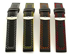 Men's Two-piece Genuine Leather Watch Strap Band 18 20 22 24 26 28 Orion MM