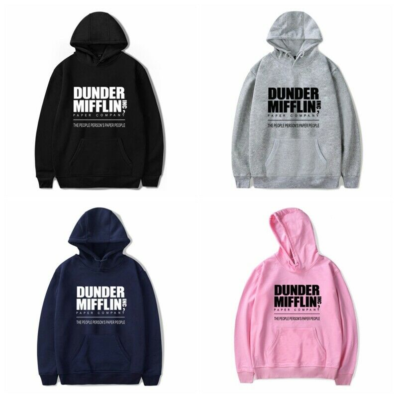 Autumn Mens Womens Hoody Dunder Mifflin Print Sweatshirt Hoodie Jumper Casual