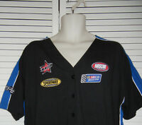 Nascar Licensed V-neck Button Down Knit Shirt By Jerry Leigh L, Xl With Tag