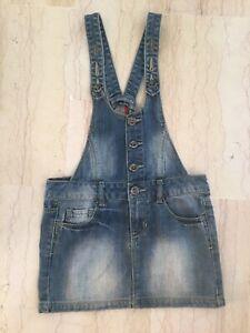 Zara Girls Jupe Robe Salopette Jean Fille Taille 7 8 Ans Peu Portee Ebay