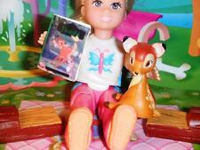 Disney Rement Baby Bambi Handmde Book fits Fisher Price Loving Family Dollhouse