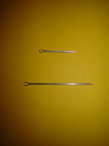 Split Pins BZP Imperial Metric Choose Size Length Quantity