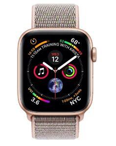Apple Watch Series 4 GPS Caja Aluminio Oro / Correa Loop deportiva Rosa - 40mm