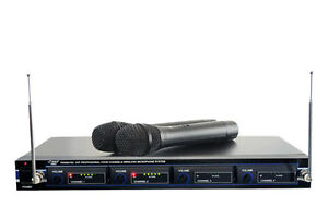 PYLE PRO PDWM4300 4-Microphone VHF Wireless Rack Mount Microphone System