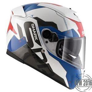 NEW-SHARK-Helm-Speed-R2-Sauer-blau-rot-Gr-L-59-60-Motorradhelm-Sonnenblende