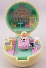 Vintage Polly Pocket BlueBird 1991 50s Diner Ring Case Compact COMPLETE