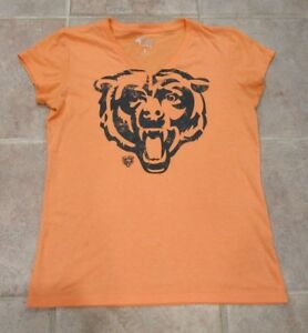 4fabbb4a Details about G-III 4Her by Carl Banks Chicago Bears V-Neck T-Shirt Orange  Size L
