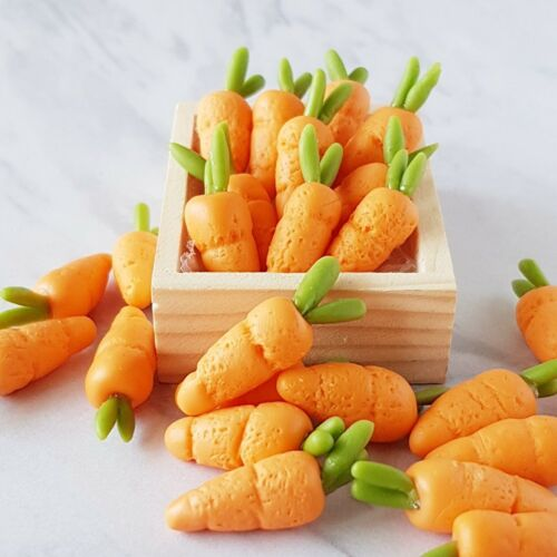 10x Carrot Dollhouse Miniature Food Vegetables Kitchen Tiny Fairy Garden Decor