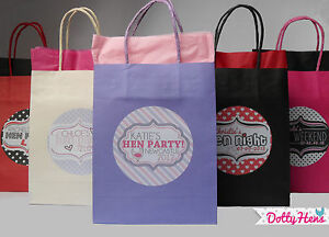 Hen Night Party Personalised Paper Party Favour Gift Bag