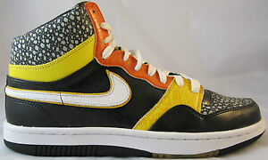 lowest price b7dbd 19010 Image is loading NIKE-COURT-FORCE-HIGH-PREMIUM-314429-011-HALLOWEEN