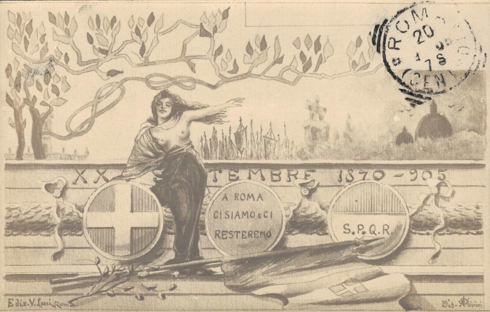 Italy ROMA: XX Settembre 1870 - 1905 a Roma ci siamo e ci resteremo 04.29