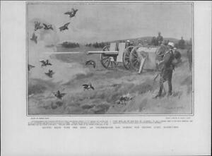 1901-Antique-Print-FRANCE-Army-Manoeuvres-Shooting-Partridges-Guns-63