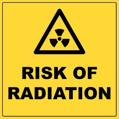 Warning Risk Of Radiation Sign with Symbol Aluminium Metal Biohazard Safety Sign