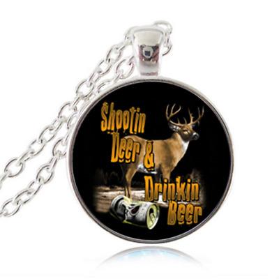 18k Rose Gold Plated Deer Necklace Austrian Crystal Reindeer
