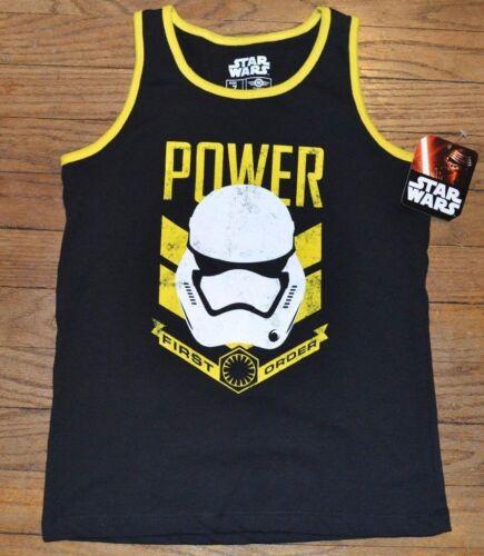 Star Wars POWER FIRST ORDER STORMTROOPER Tank Top Boys Youth Sleeveless T-Shirt