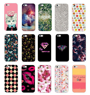 Painted Various Pattern Phone Hard Back Skin Case Cover for IPhone 4S 5 5S 5C 6