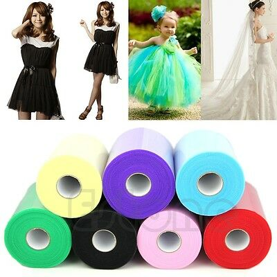 "6""x100yd(6""x300') Spool Tutu Craft Wedding Party Tulle Roll Bow Decoration Gift"