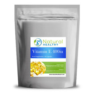 330 Vitamin E 400iu Capsules - High Quality SoftGel Capsule - UK Diet Supplement