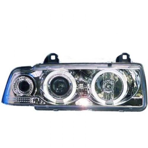 Phares set pour BMW 3er e36 Bj 90-99 Coupé Cabrio clair//chrome Angel Eyes
