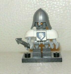 Lego Lance 70323 70316 70312 Silver Visor and Armor Nexo Knights Minifigure