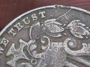 1882-Shield-Nickel-5-Cent-Piece-Fine-VF-Details-Die-Crack