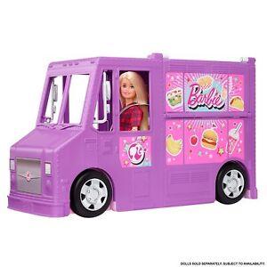 Barbie Food-Truck Spielset aufklappbar, über 30 Teile Puppen-Zubehör