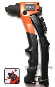 Gobest taille compacte Hand Riveter GB-0070 Pop Rivet Pistolet 200 mm 2.4-4.8 Rivets