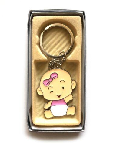 12 Pcs Baby Shower Boys Girls Party Favors Keychains Recuerdos Nino Nina New
