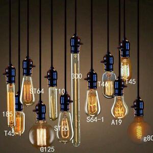 E27 Edison Vintage Cob Led Licht Lampe Filament Nostalgie Gluhbirne