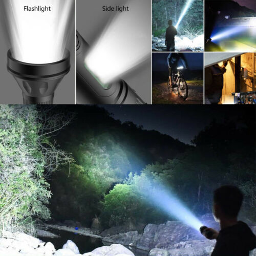 55000LM LED Flashlight USB Rechargeable Built-in Battery Torch Light For Camping