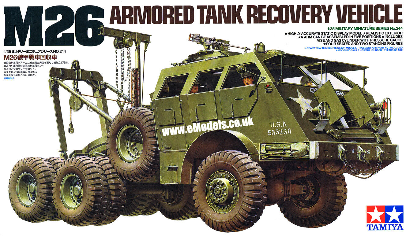 Tamiya 1 35 M26 Tank Recovery Vehicle Plastic Model Kit