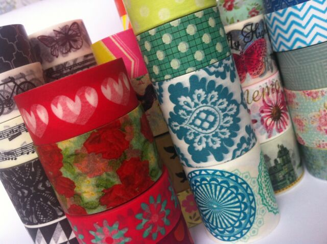 WASHI TAPE W-I-D-E DESIGNS SAMPLE SOLD BY THE HALF METRE SCRAP CRAFT PLAN WRAP