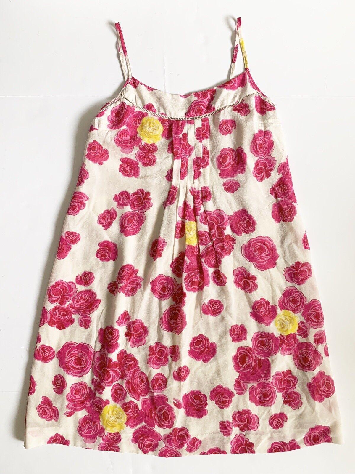 f140d1fc8f3a Anthropologie Moulinette Soeurs Size 4 100% Silk Sleeveless Swing Swing  Swing Dress f29a23