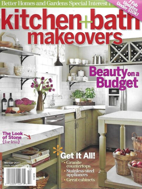 Kitchen and Bath Makeovers Magazine Budget Projects Paint Cabinets Lighting  2011