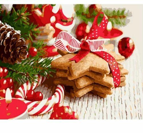 Oil Painting Christmas Cookies Souvenir Design Portrait House Wall Decor Display