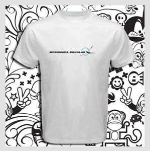 Details about McDonnell Douglas Aerospace Company Logo Men's White T-Shirt  S M L XL 2XL 3XL