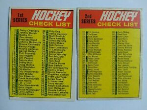 1970-71-OPC-O-Pee-Chee-24-amp-132-Checklist-Lot-Marked