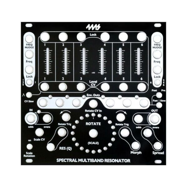 4ms Spectral Multiband Resonator Replacement Panel (black)